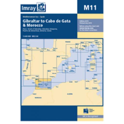 Imray M Series: M11 Gibraltar to Cabo de Gata and Morocco