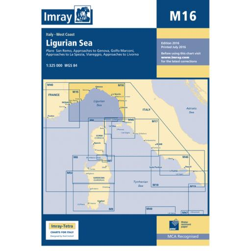 Imray M Series: M16 Ligurian Sea