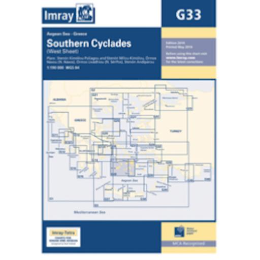 Imray G Series: G33 Southern Cyclades (West Sheet)