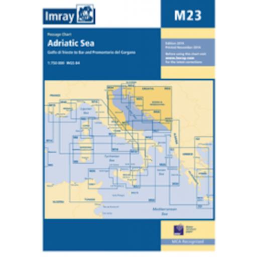 Imray M Series: M23 Adriatic Sea Passage Chart