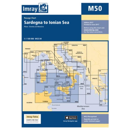 Imray M Series: M50 Sardegna to Ionian Sea