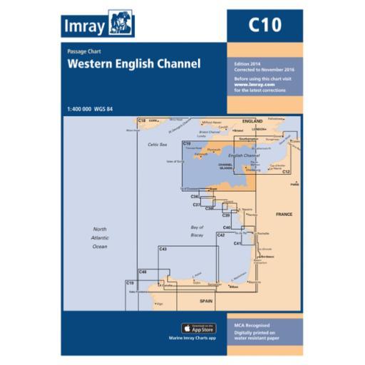 Imray C Series: C10 Western English Channel Passage Chart
