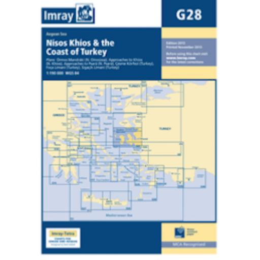 Imray G Series: G28 Nísos Khíos & the Coast of Turkey