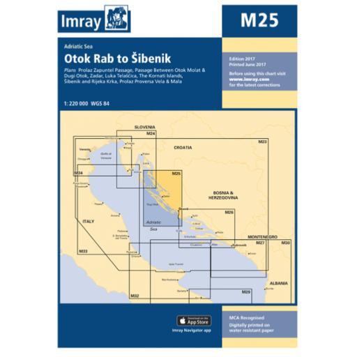 Imray M Series: M25 Otok Rab to Sibenik