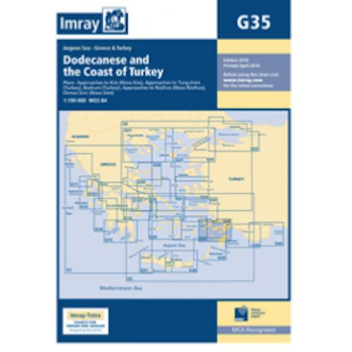 Imray G Series: G35 Dodecanese and the Coast of Turkey