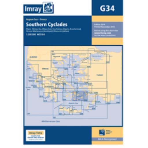 Imray G Series: G34 Southern Cyclades (East Sheet)
