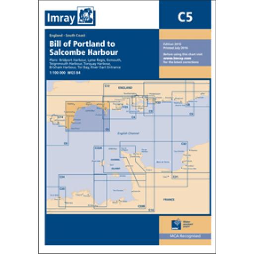 Imray C Series: C5 Bill of Portland to Salcombe Harbour