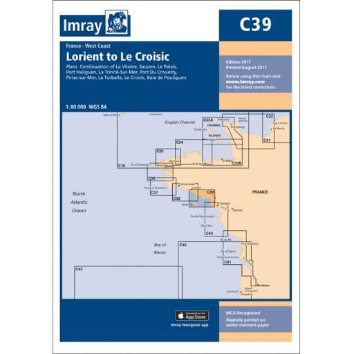 Imray C Series: C39 Lorient to Le Croisic