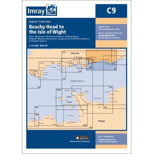 Imray C Series: C9 Beachy Head to Isle of Wight
