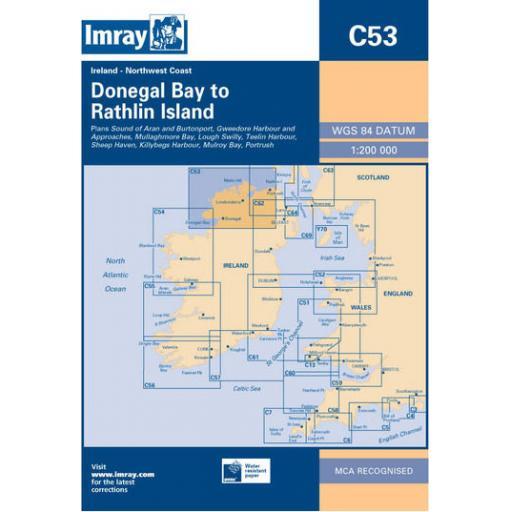 Imray C Series: C53 Donegal Bay to Rathlin Island