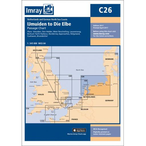 Imray C Series: C26 IJmuiden to Die Elbe