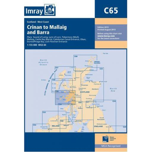Imray C Series: C65 Crinan to Mallaig and Barra