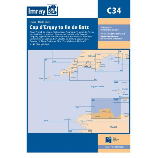 Imray C Series: C34 Cap d'Erquy to Ile de Batz