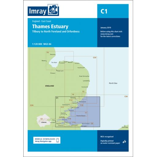 Imray C Series: C1 Thames Estuary