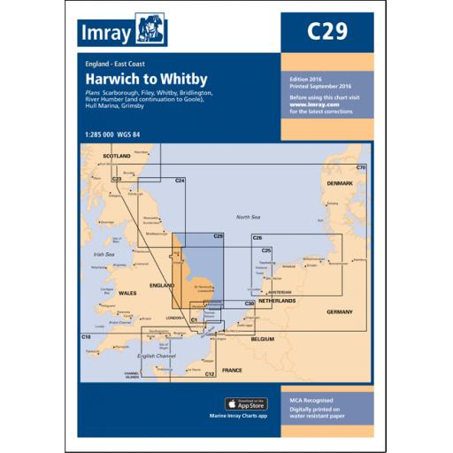 Imray C Series: C29 Harwich to Whitby