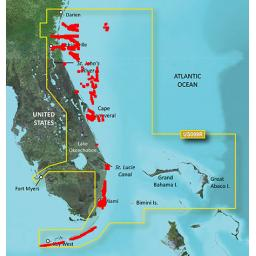 Garmin BlueChart g3 Vision VUS009R-Jacksonville to Key West