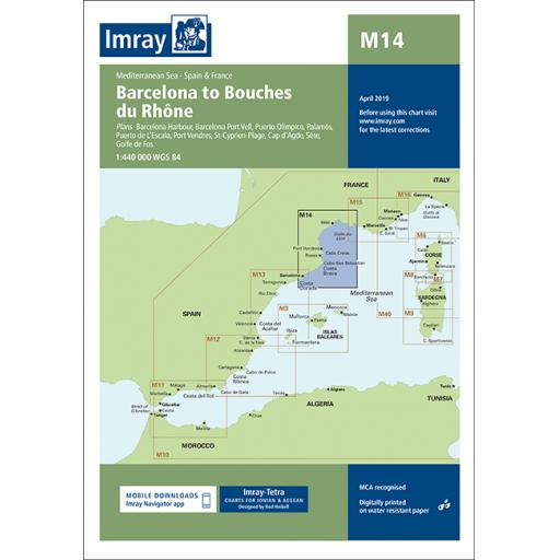 Imray M Series: M14 Barcelona to Bouches du Rhône