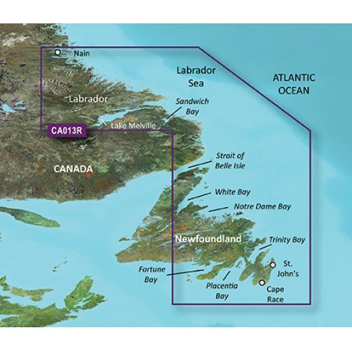 Garmin BlueChart g3 Vision VCA013R-Labrador Coast