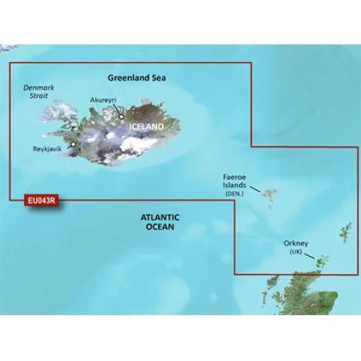 Garmin BlueChart g3 Vision VEU043R-Iceland to Orkney