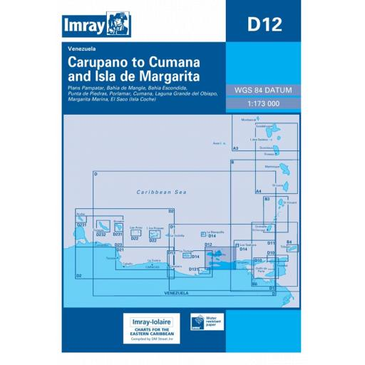 Imray D Series Charts: D12 Carupano to Cumana and Isla de Margarita