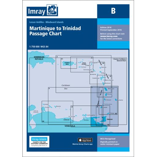 Imray B Series Charts: B Martinique to Trinidad Passage Chart