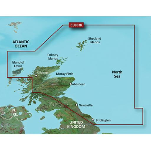 Garmin BlueChart g3 / g3 Vision VEU003R-Great Britain, Northeast Coast