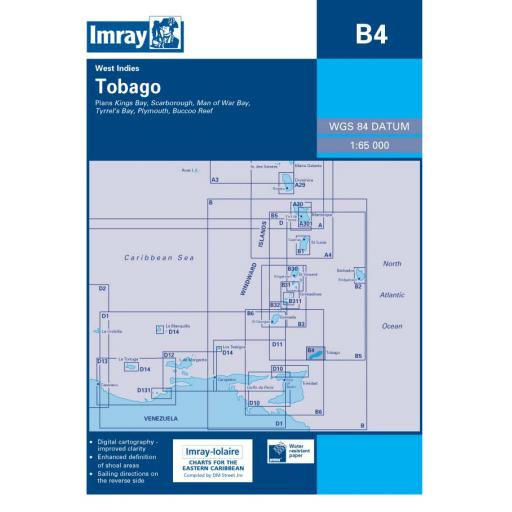 Imray B Series Charts: B4 Tobago