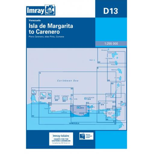 Imray D Series Charts: D13 Isla de Margarita to Carenero
