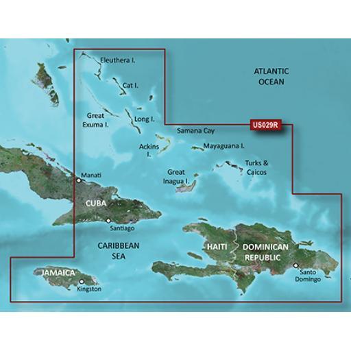 Garmin BlueChart g3 Vision VUS029R-Southern Bahamas