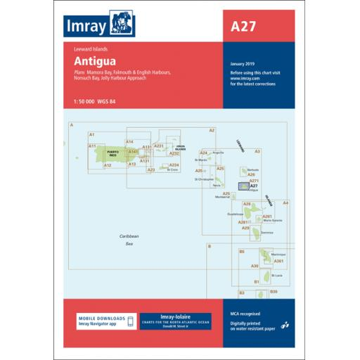 Imray A Series: A27 Antigua