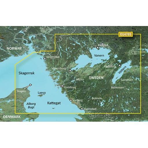 Garmin BlueChart g3 Vision VEU470S-Stromstad to Halmstad