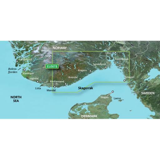 Garmin BlueChart g3 Vision VEU507S-Oslo-Mandal-Smogen