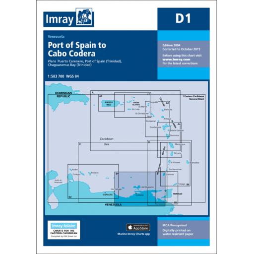 Imray D Series Charts: D11 Trinidad to Carupano