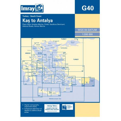 Imray G Series: G40 Kas to Antalya
