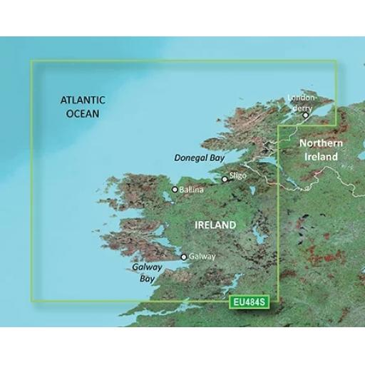 Garmin BlueChart g3 Vision VEU484S-Ireland North-West
