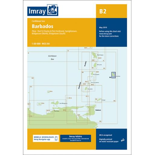 Imray B Series Charts: B2 Barbados
