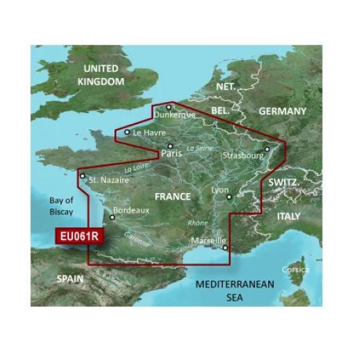Garmin BlueChart g3 / g3 Vision VEU061R-France Inland Waters