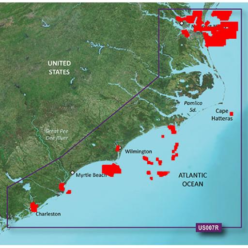 Garmin BlueChart g3 Vision VUS007R-Norfolk-Charleston