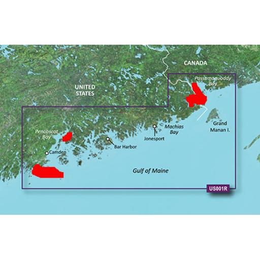 Garmin BlueChart g3 Vision VUS001R-North Maine