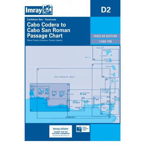 Imray D Series Charts: D2 Cabo Codera to Cabo San Roman