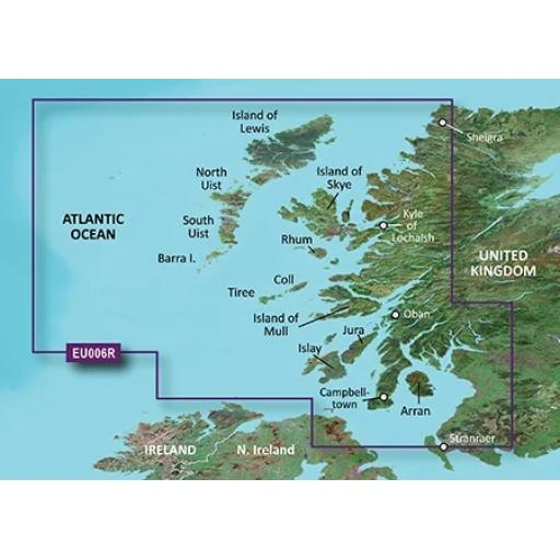 Garmin BlueChart g3 / g3 Vision VEU006R-Scotland, West Coast
