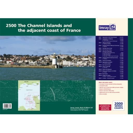 Imray 2000 Series: 2500 The Channel Islands and adjacent coast of France Chart Atlas