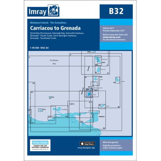 Imray B Series Charts: B32 Carriacou to Grenada