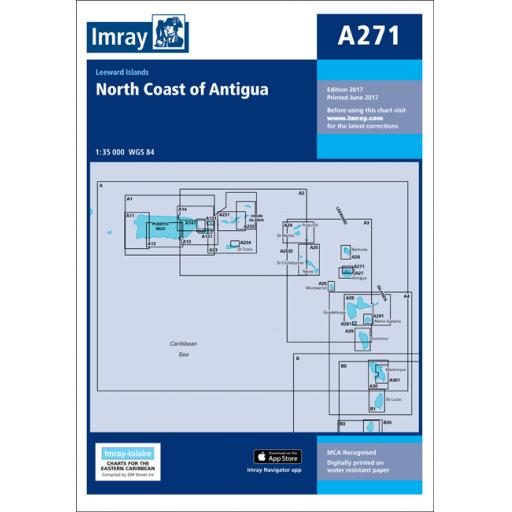 Imray A Series: A271 North Coast of Antigua