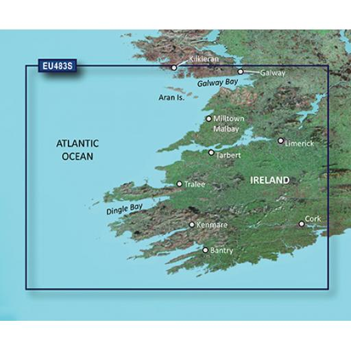 Garmin BlueChart g3 Vision VEU483S-Galway Bay to Cork