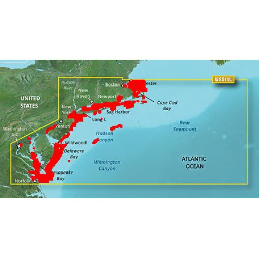 Garmin BlueChart g3 Vision VUS511L-Boston-Norfolk