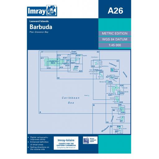 Imray A Series: A26 Barbuda