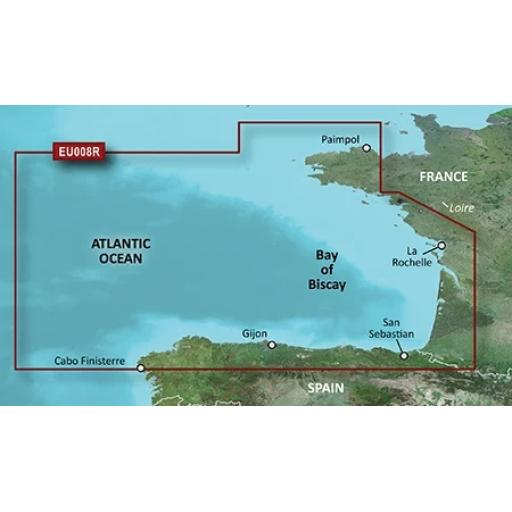 Garmin BlueChart g3 / g3 Vision VEU008R-Bay of Biscay