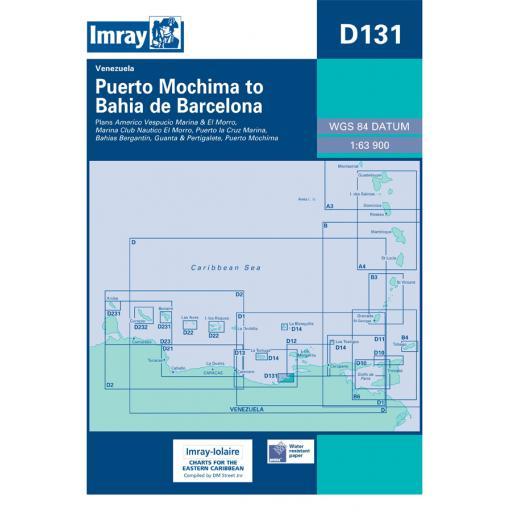 Imray D Series Charts: D131 Puerto Mochima to Bahia de Barcelona