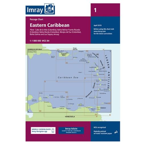 Imray D Series Charts: Chart 1 Eastern Caribbean General Chart